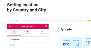Setting location by Country and City