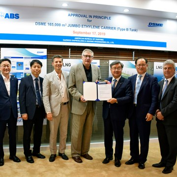 ABS grants AIP for world's largest Ethane/Ethylene carrier