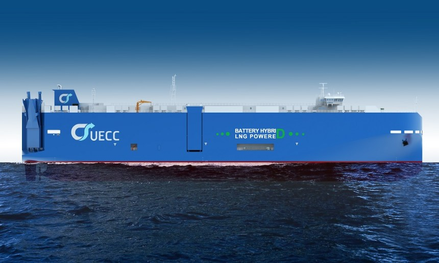 UECC opts for third battery hybrid LNG PCTC