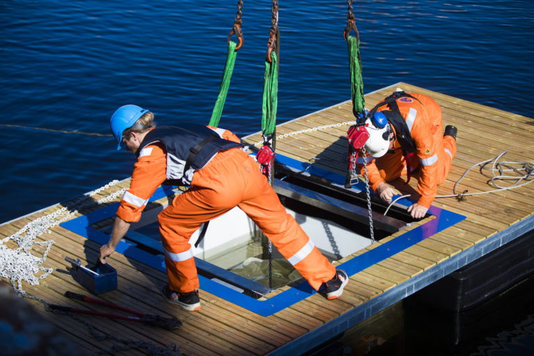 Waste collecting floating jetty launched in Norway