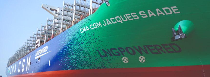 CMA CGM welcomes first of nine LNG-powered container ships