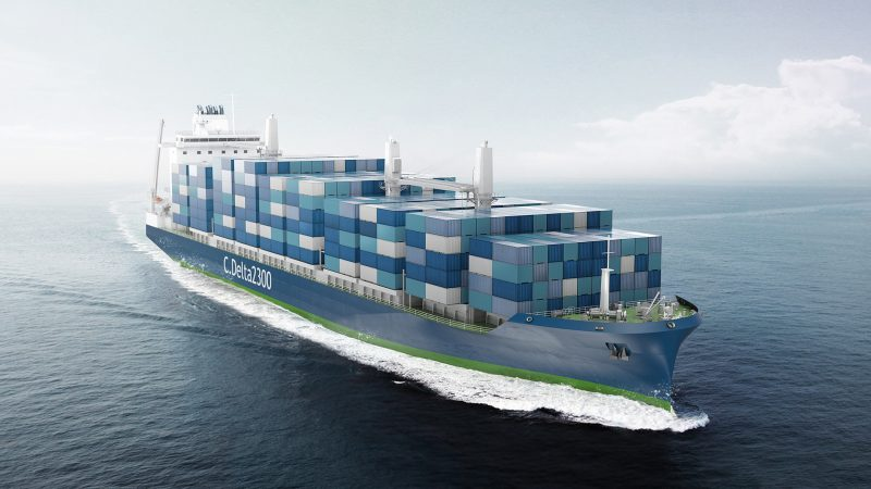 Deltamarin introduces new LNG-powered container feeder design