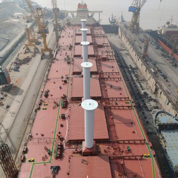 Norsepower installs five rotor sails on Vale-chartered VLOC