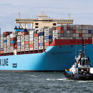 Maersk trials air lubrication technology on large containership