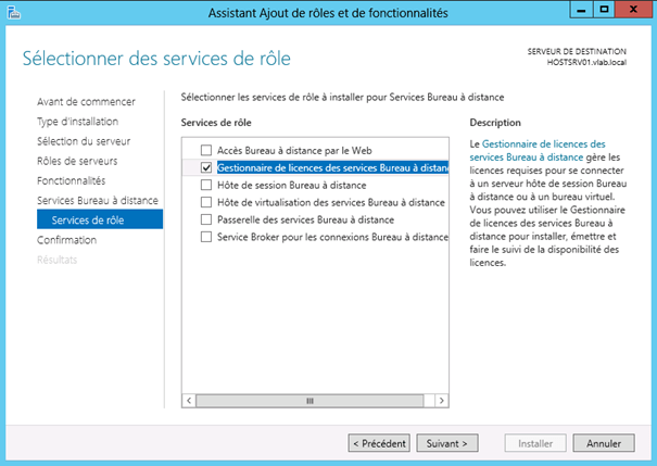 windows server 2012 installation du r le de gestionnaire de licences des services bureau