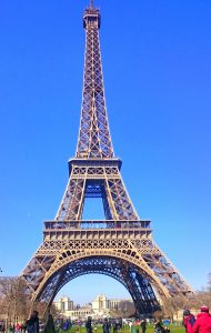 Eiffel Tower in sunny day Paris