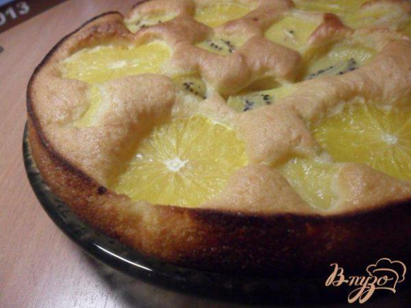 Шарлотка с киви и апельсином - рецепты с фото на vpuzo.com