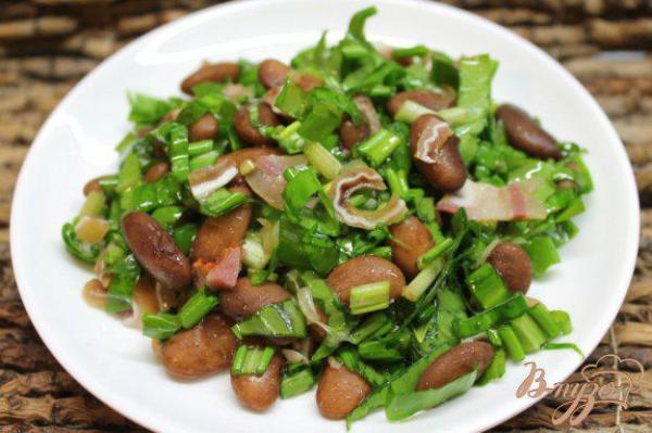 Салат с красной фасолью и копченостями - рецепты с фото на ...