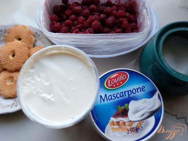Десерт из маскарпоне с малиной - рецепты с фото на vpuzo.com