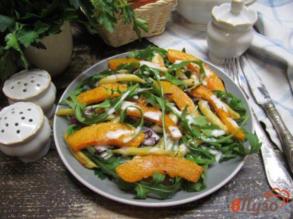 Салат с жареной тыквой и стручковой фасолью 1 - рецепты с ...