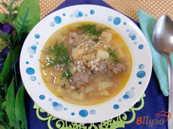 Суп из нежареной гречки с фрикадельками 1 - рецепты с фото ...