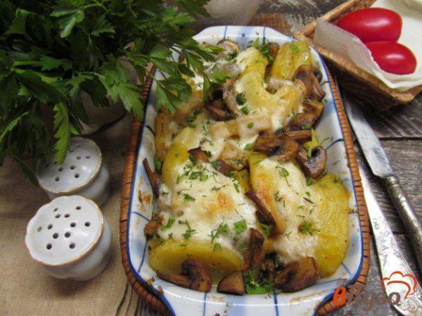 Запеченные овощи с грибами и сыром 1 - рецепты с фото на ...