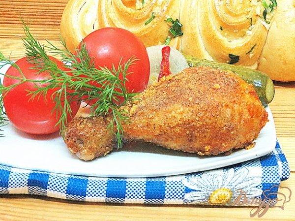 Жареные куриные голени в хрустящей панировке