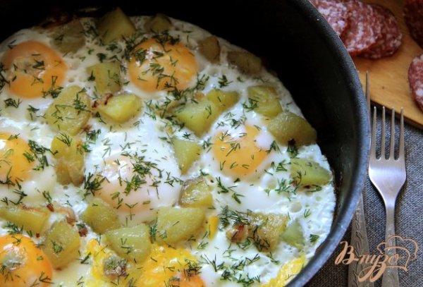 Отварной картофель с яйцами - рецепты с фото на vpuzo.com