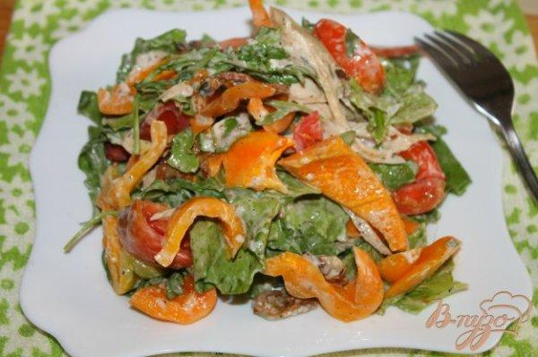 Салат с курицей, грибами и перцем - рецепты с фото на ...