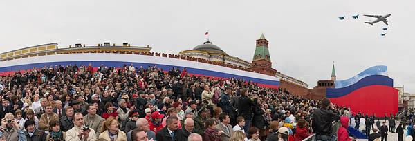 Красная площадь, репетиция Парада Победы.