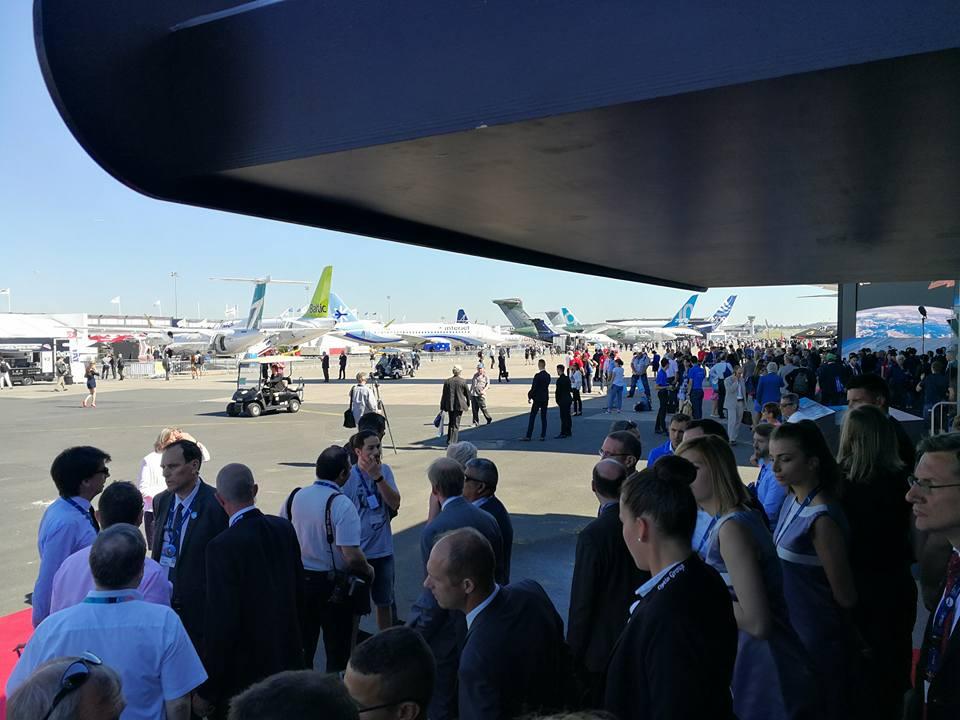 Vue du Salon International de l'Aéronautique et de l'Espace 2017 (Le Bourget)