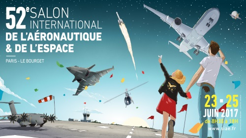 Visuel officiel du salon du Bourget SIAE 2017