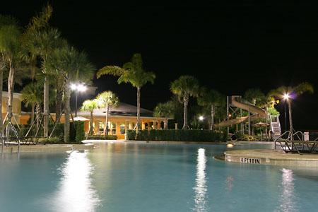 Windsor Hills - Nightime Pool