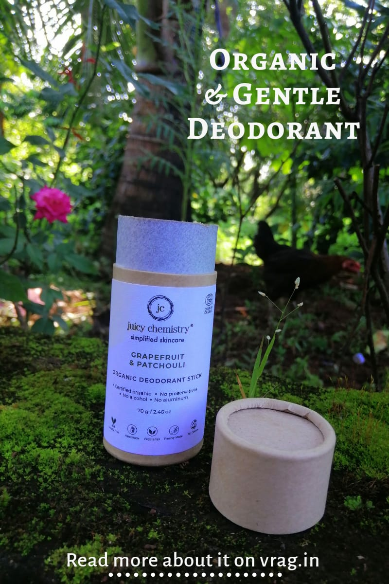Grapefruit & Patchouli Organic Deodorant Stick