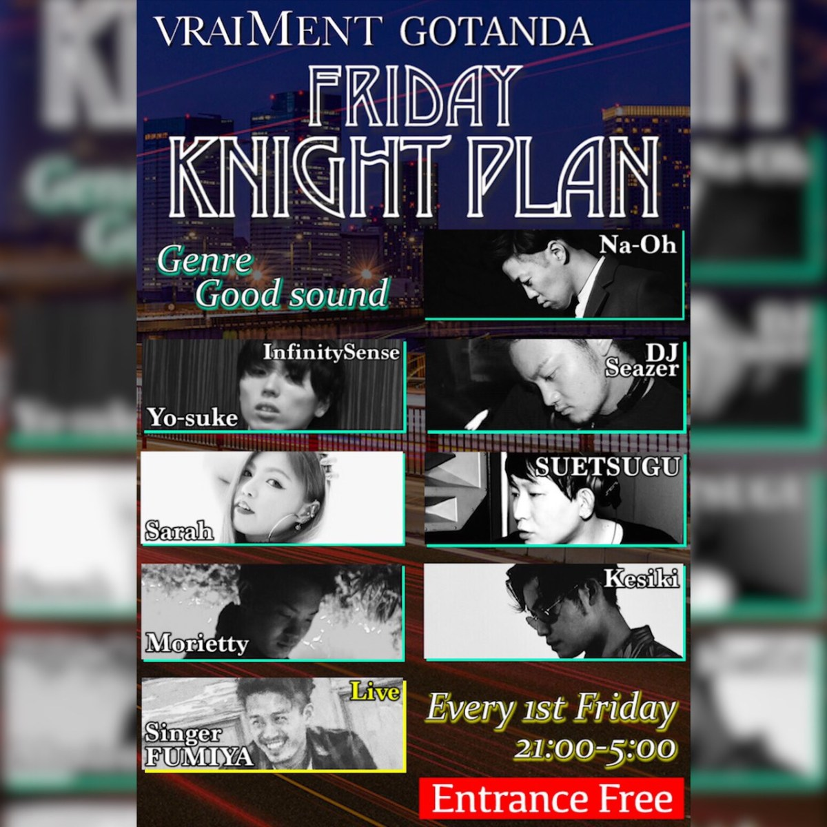 【3月1日】FRIDAY KNIGHT PLAN