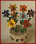 People flowers polymer clay