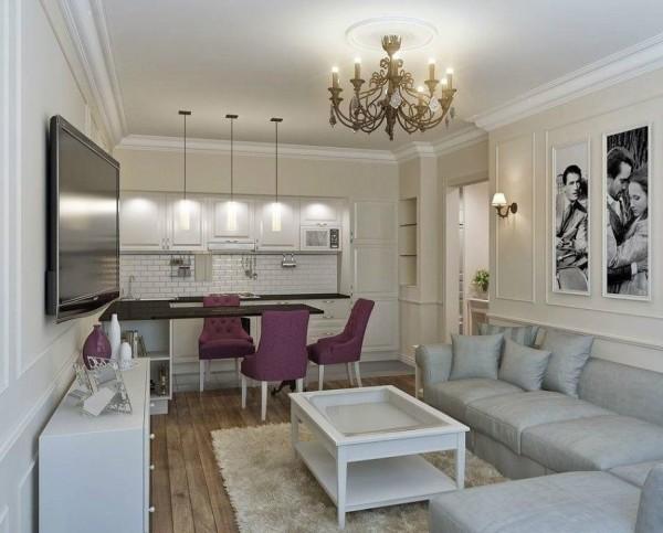 Кухня-гостиная 17 М Кв Дизайн Фото