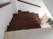 Scari interioare din lemn fag pe beton