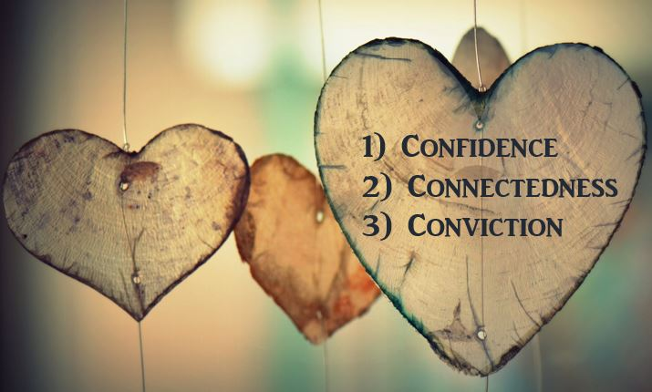 The 3 C's - Confidence, Connectedness, Conviction