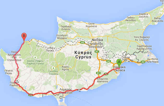 Cipru, harta
