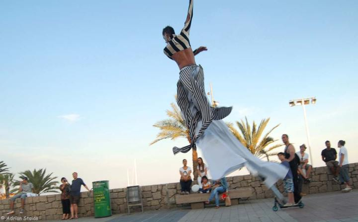 Dancing on stilts