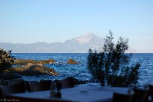 Ta Vrahakia - aproape de plaja, mare si Athos, Sarti, Sithonia