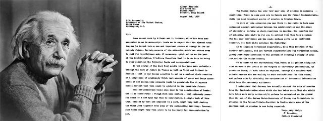 Prepiska sa Ruzveltom iz 1939. - Albert Ajnštajn