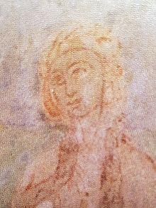 Marija Vukanovic Psemisl - detalj freske, XII vek