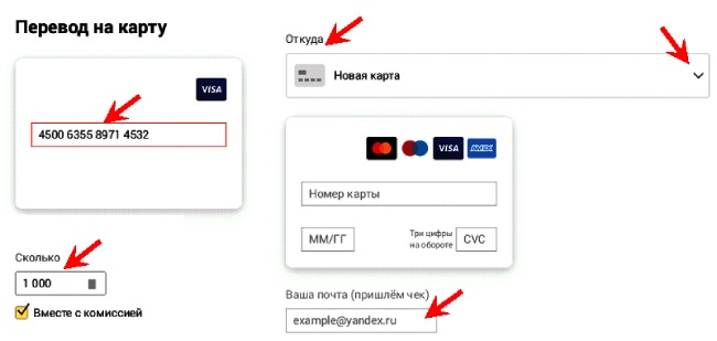 Pindahkan ke kad Sberbank terikat