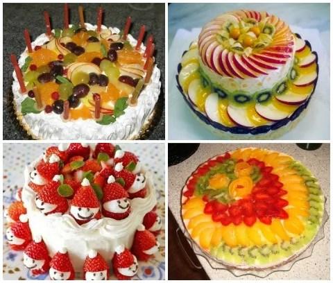 5 способов как украсить торт фруктами?