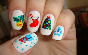 Рисование на ногтях акриловыми красками