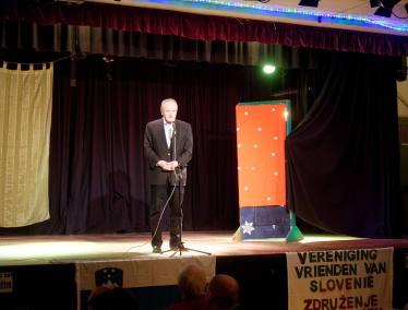 Nagovor slovenskega veleposlanika v Haagu, gospoda Romana Kirna (foto: Keimpe Dijkstra)