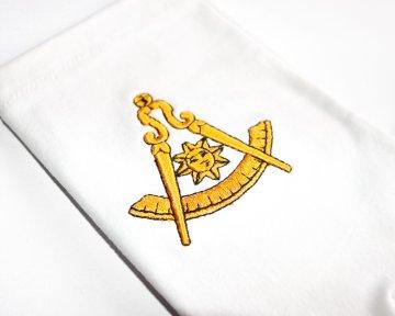 Handschoenen Achtbare Meester Worshipful Master Dutch nederlandse regalia maçonniek Vrijmetselarij Vrijmetselaarswinkel Loge Benelux