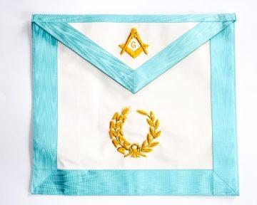 Schootsvel Achtbare Meester Worshipful Master Dutch nederlandse regalia maçonniek Vrijmetselarij Vrijmetselaarswinkel Loge Benelux