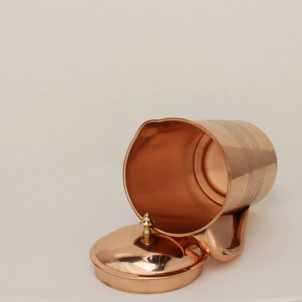 Art Engraved Copper Pitcher