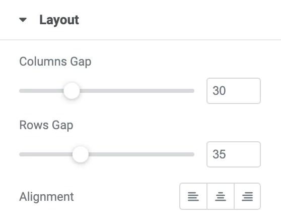 Elementor Post Widget - Layout setting pada Classic & Card Skin
