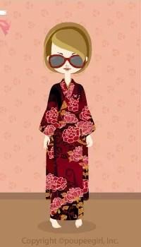 Kimono-Red Flowers / 10AJ