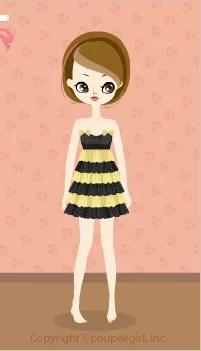 Shiny border dress / yw09K