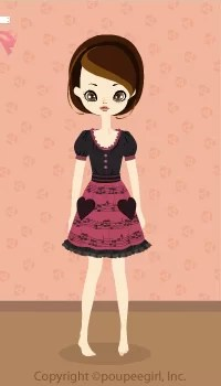Heart note dress / pk09J