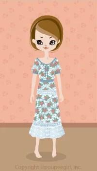 Flower girly dress / bl09D