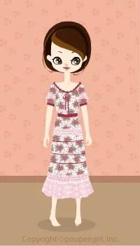 Flower girly dress / pk09D