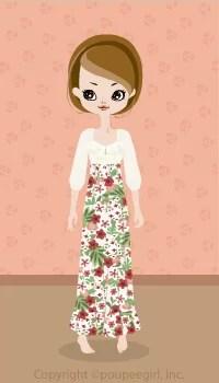 Flower Long Dress / Rd09D