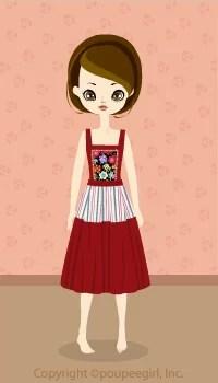 Dutch style flower dress / rd09C