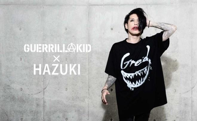 GUERRILLAKID x HAZUKI BIG TEE「GREED」